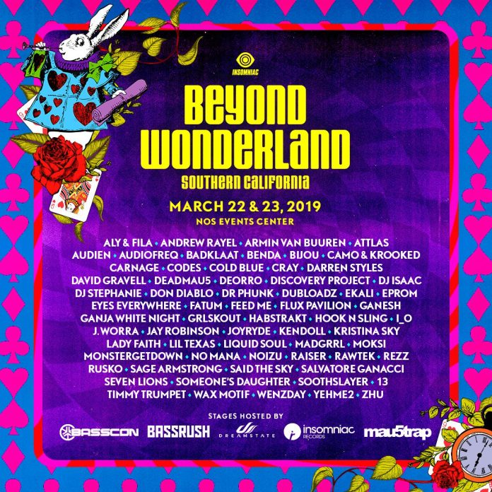 Beyond Wonderland SoCal 2019 Lineup