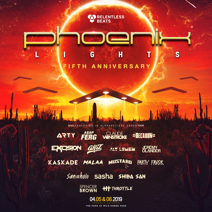 Phoenix Lights 2019 Phase One Lineup