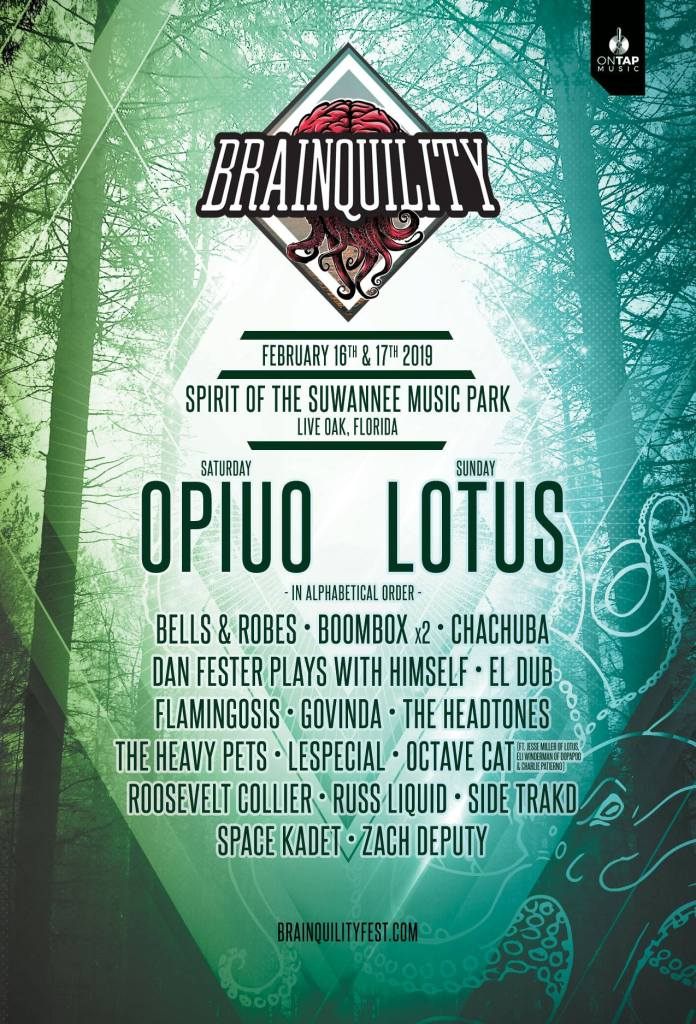 Brainquility Music Festival 2019 Lineup