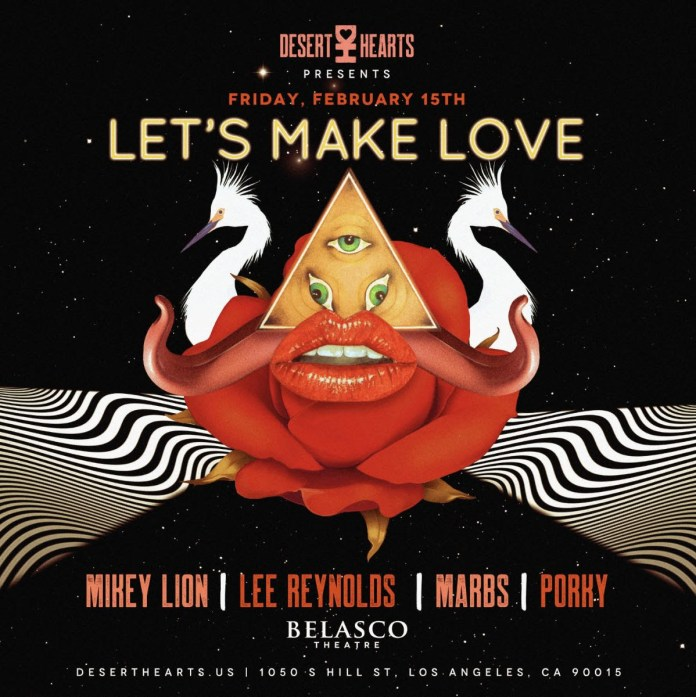 Desert Hearts Let's Make Love Flyer