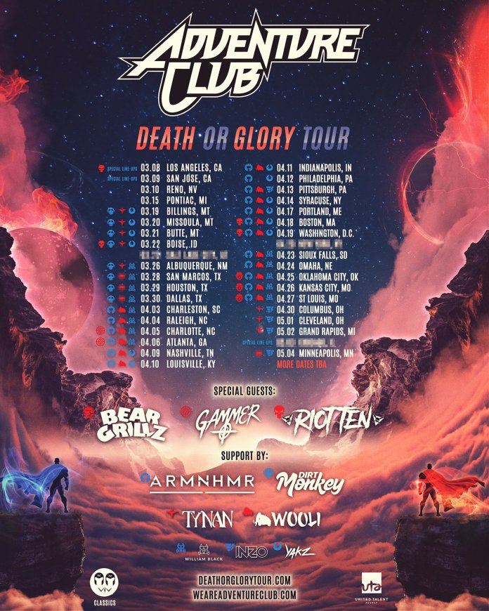 Adventure Club Death or Glory Tour