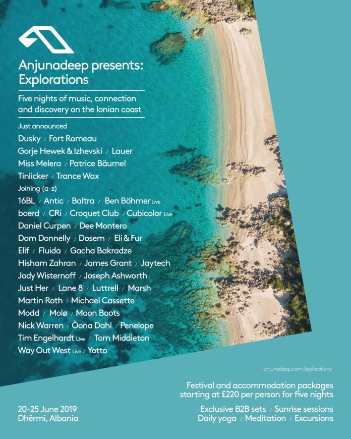 Anjunadeep presents: Explorations 2019 Lineup