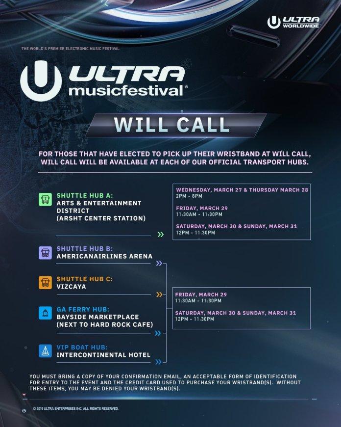 Ultra Music Festival 2019 Will Call