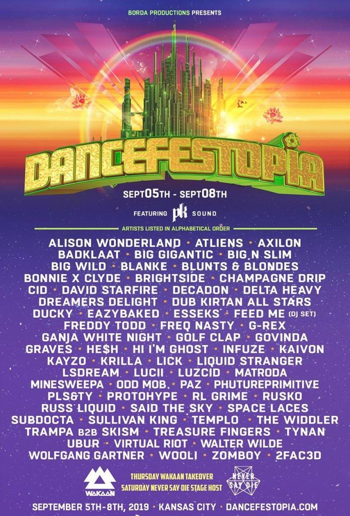 Dancefestopia 2019 Lineup