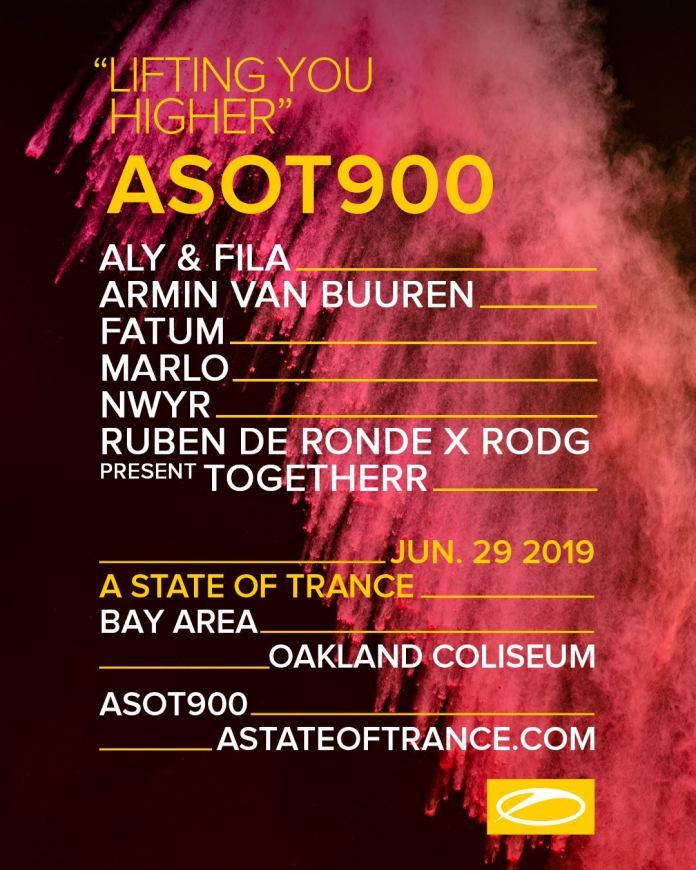 ASOT 900 Bay Area Lineup
