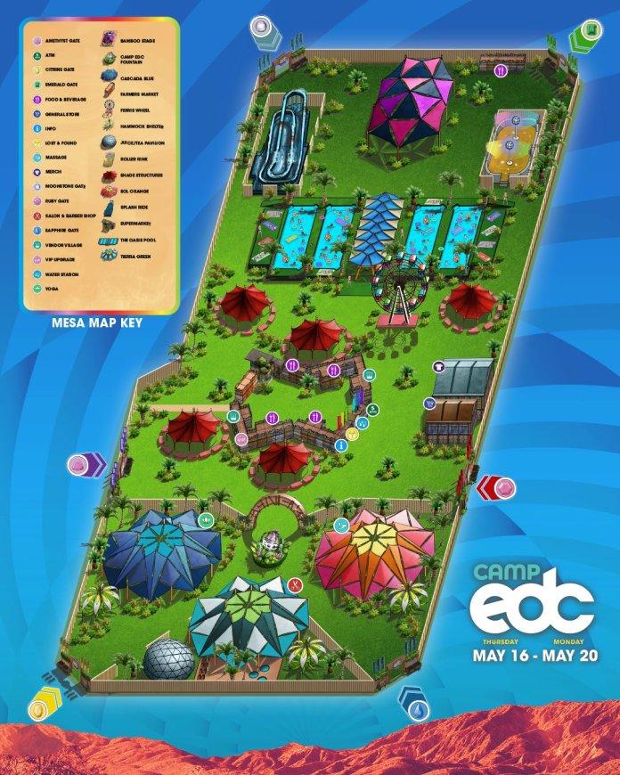 Camp EDC 2019 Mesa Map