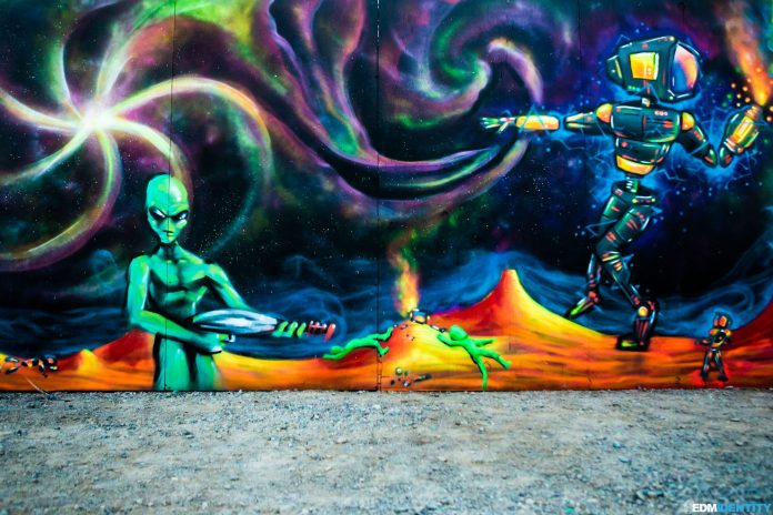 Spray Paint Art - Phoenix Lights 2019