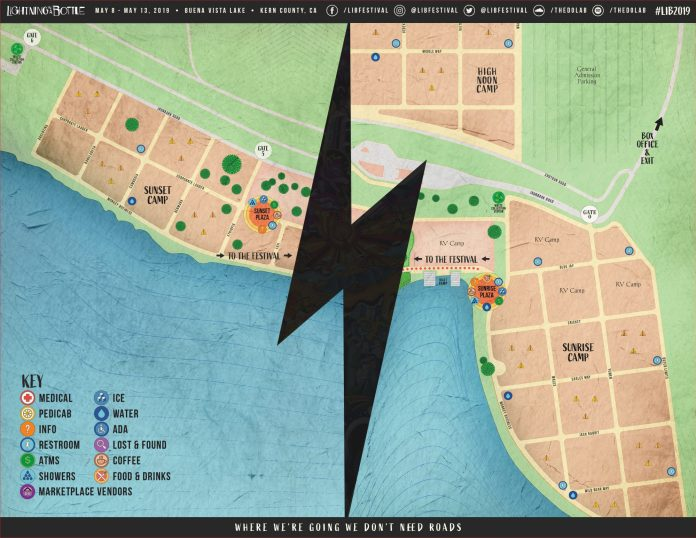 Lightning in a Bottle 2019 - Camping Map