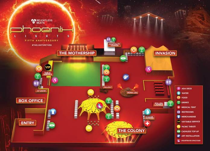 Phoenix Lights 2019 Festival Map