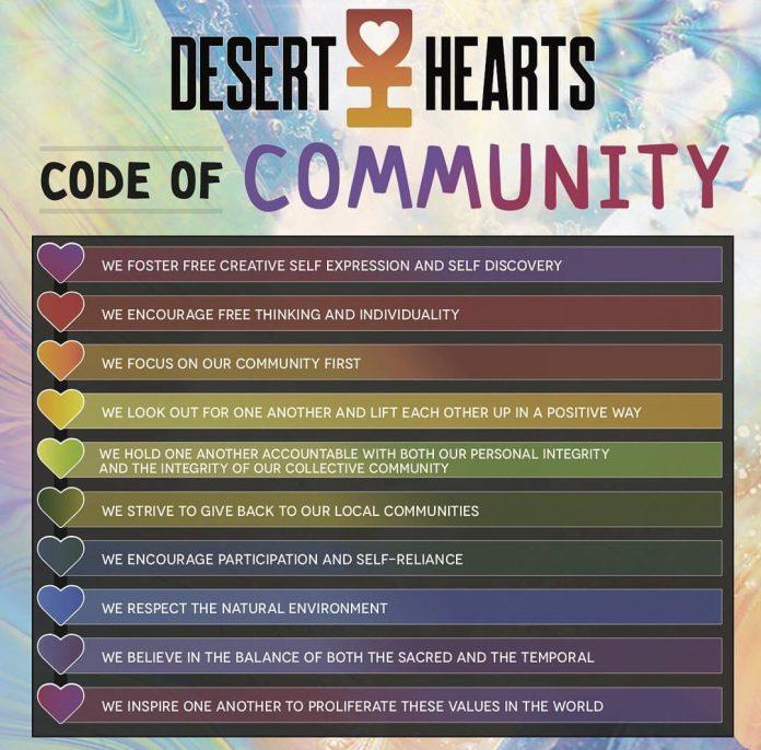 Desert Hearts Code Of Community