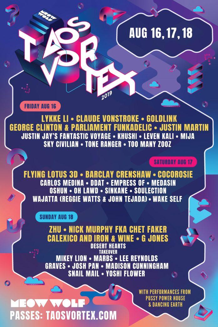 Taos Vortex 2019 Lineup