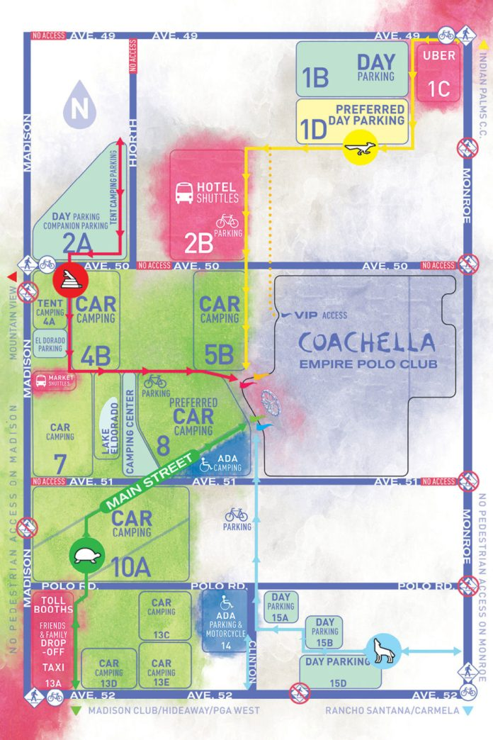 Parking Maps 2019 Coachella