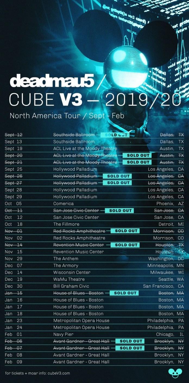 deadmau5 - Cube V3 Tour - North America 2019/20