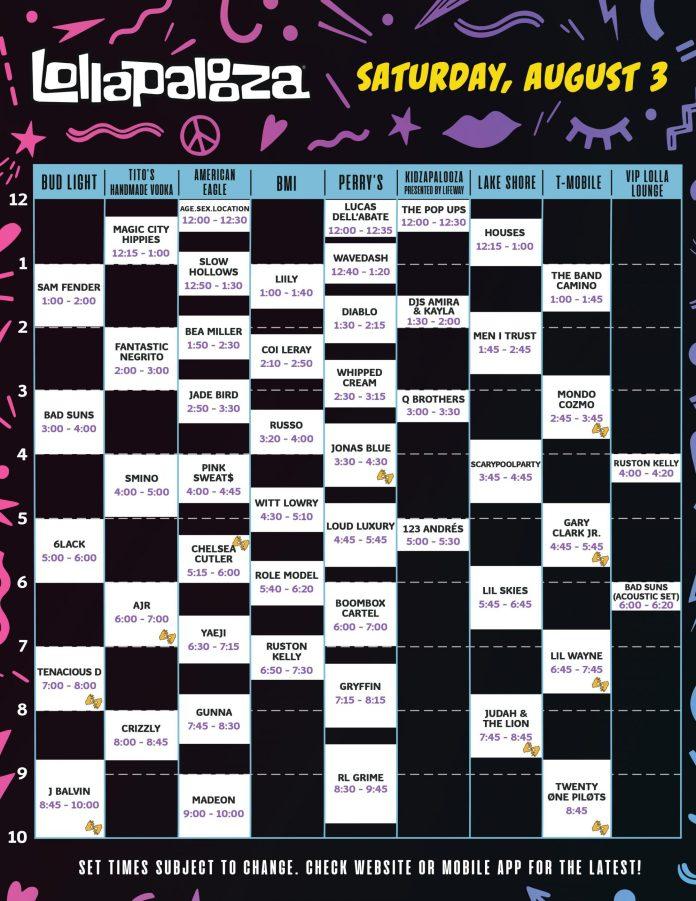Lollapalooza Saturday 2019