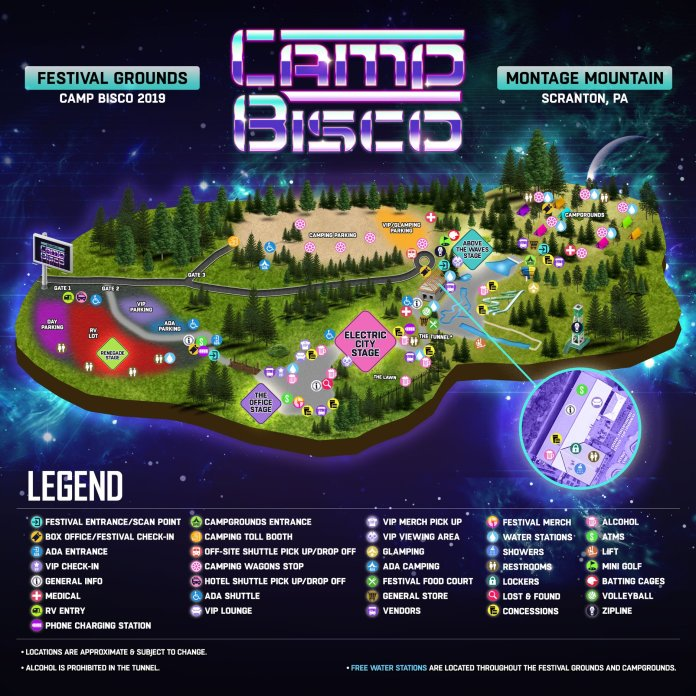 Camp Bisco 2019 Festival Map