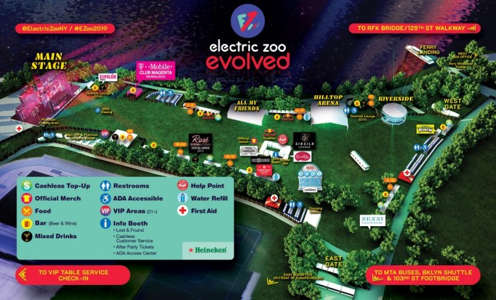 Electric Zoo 2019 Map
