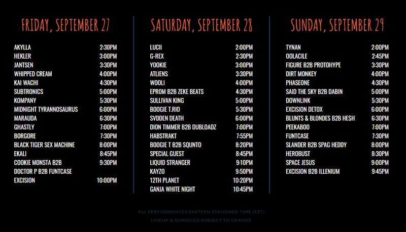 Lost Lands Music Festival 2019 Live Stream Schedule