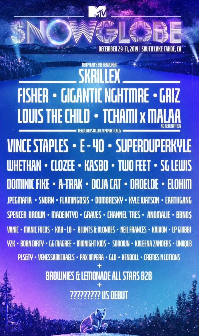 SnowGlobe 2019 Lineup