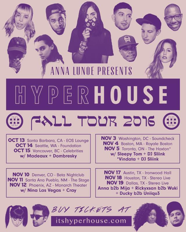 Hyperhouse Tour Dates