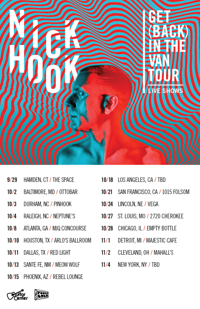 Nick Hook Tour Dates