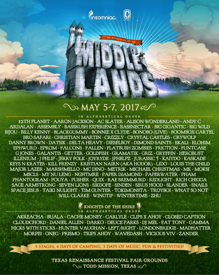 Middlelands Full Lineup