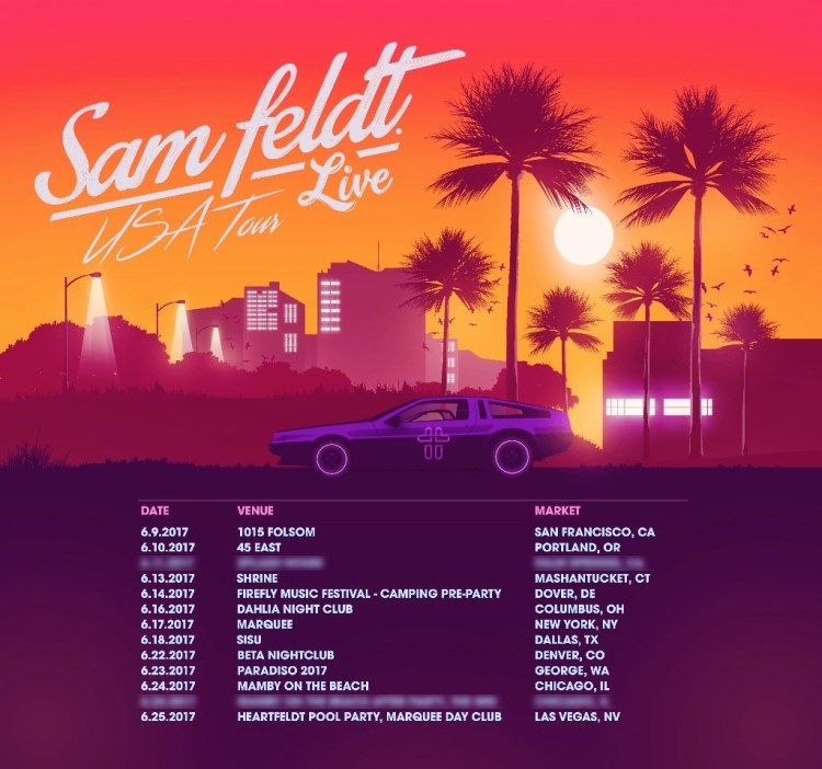 Sam Feldt 2017 Flyer
