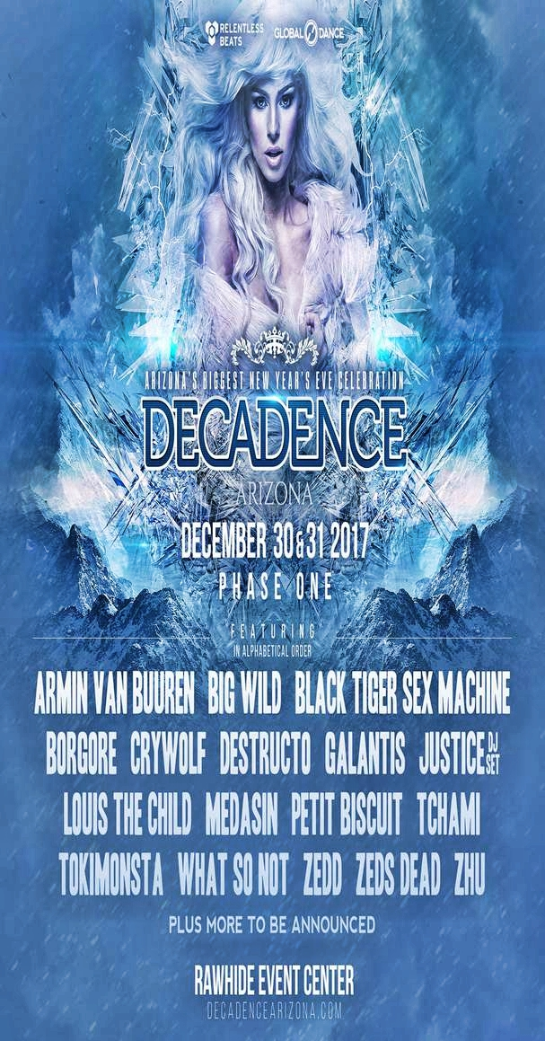 Decadence Festival 2017 Flier