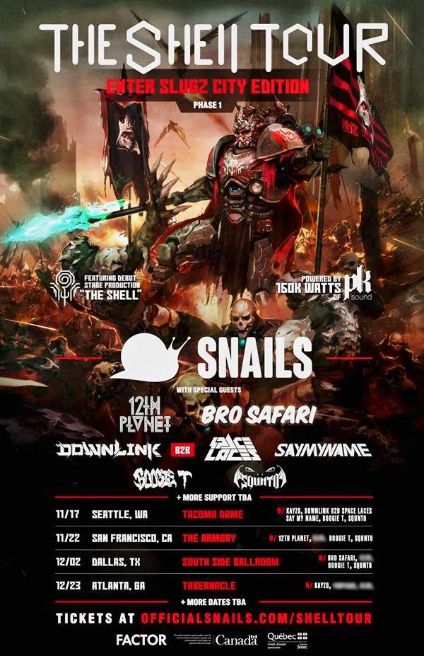 Snails 2017 Tour Flier