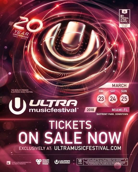 Ultra Music Festival 2018 Tickets Sale Flier