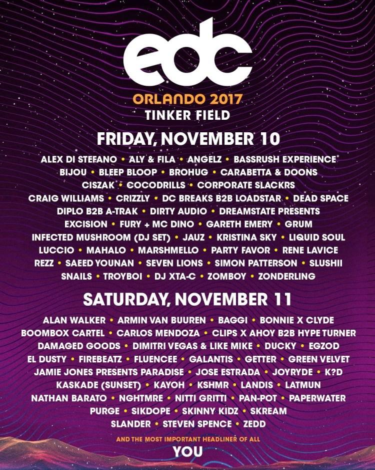 EDC Orlando 2017 November Flyer