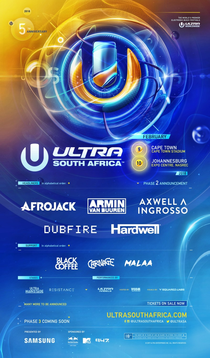 Ultra South Africa 2018 Phase 2 Lineup