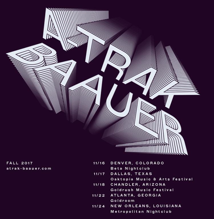 A Trak + Baauer Fall Tour Flyer