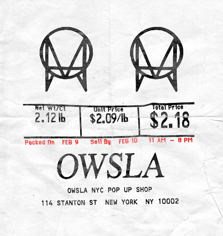 OWSLA NYC POP UP FLYER