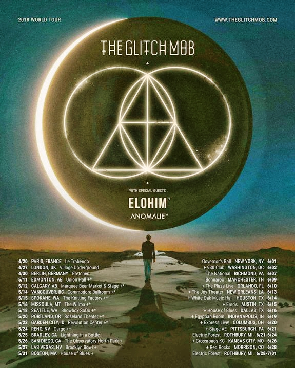 The Glitch Mob 2018 Tour Flyer
