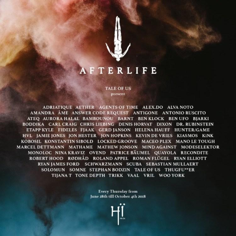 Afterlife 2018 Flyer