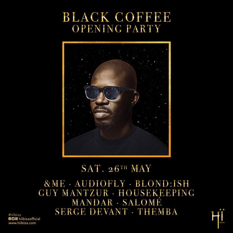 Black Coffee Ibiza 2018