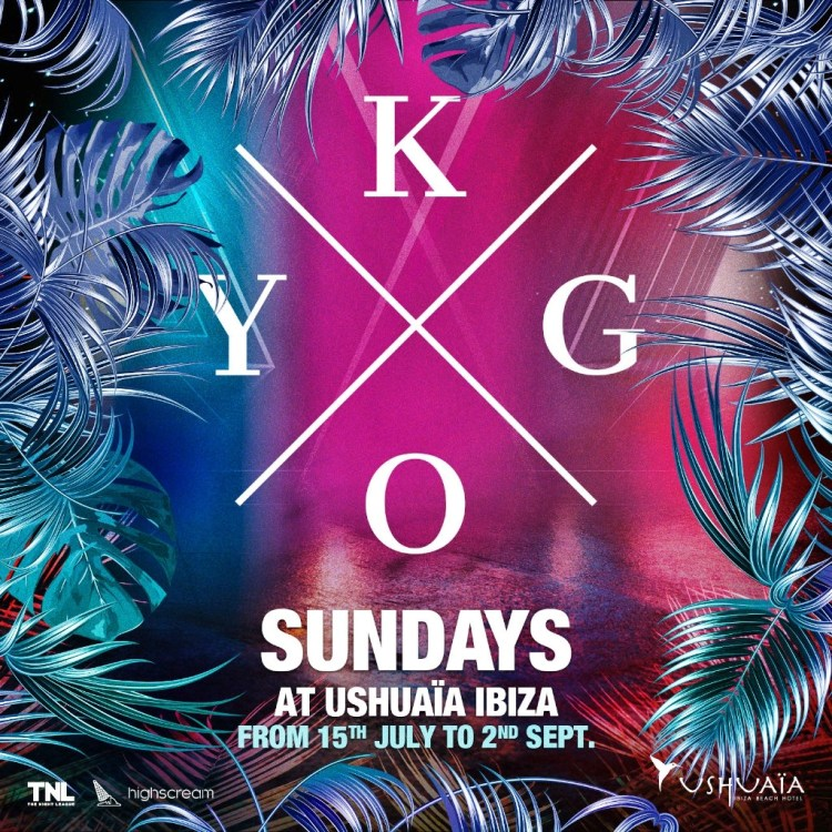 Ushuaia Ibiza Kygo 2018 Flyer