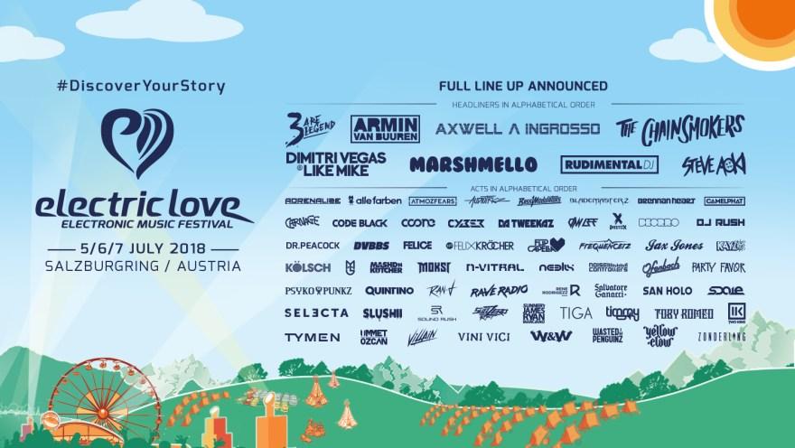 Electric Love Festival 2018 Flyer