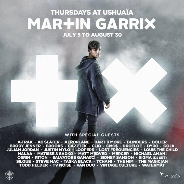 Martin Garrix Ushuaia Ibiza 2018 Flyer