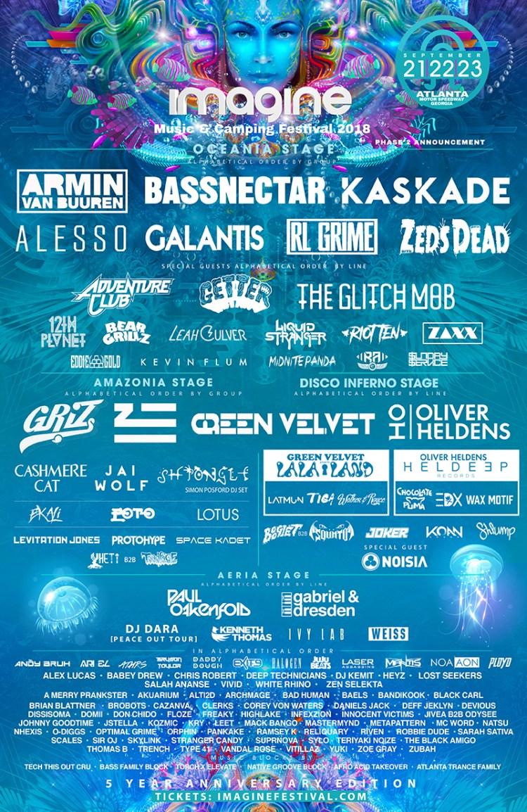 Imagine Festival 2018 Flyer