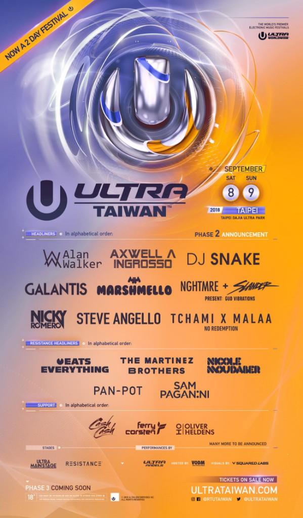 Ultra Taiwan 2018 Flyer