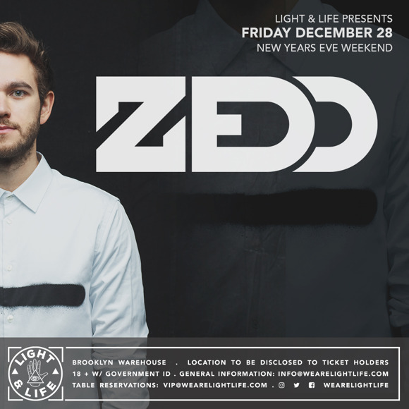 Zedd 2019 New Years Eve Flyer