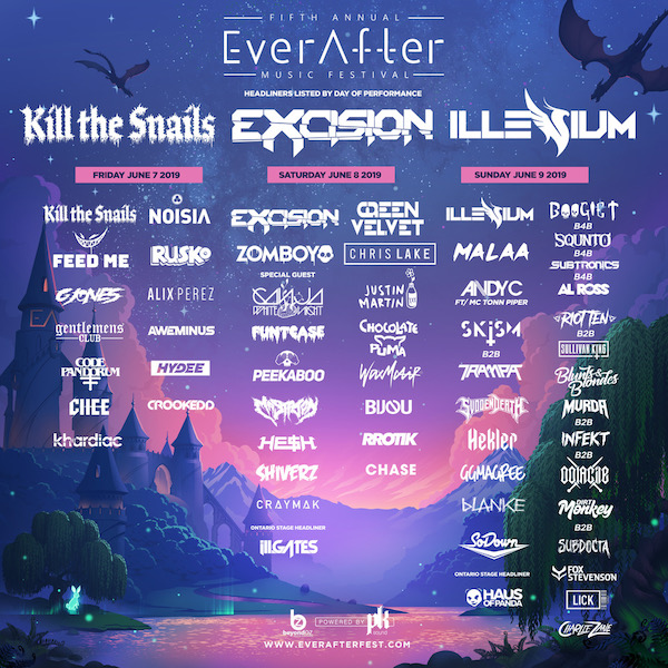 Ever After Music Festival 2019 Flyer
