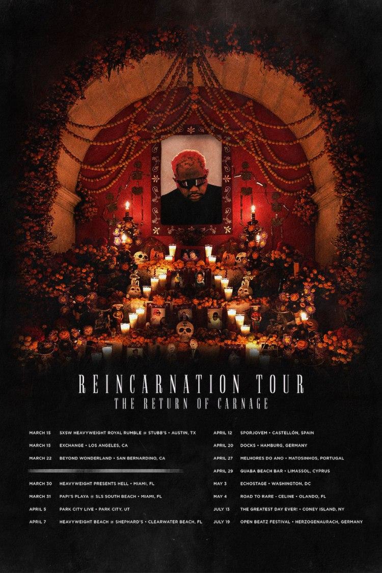 Reincarnation Tour 2019 Flyer