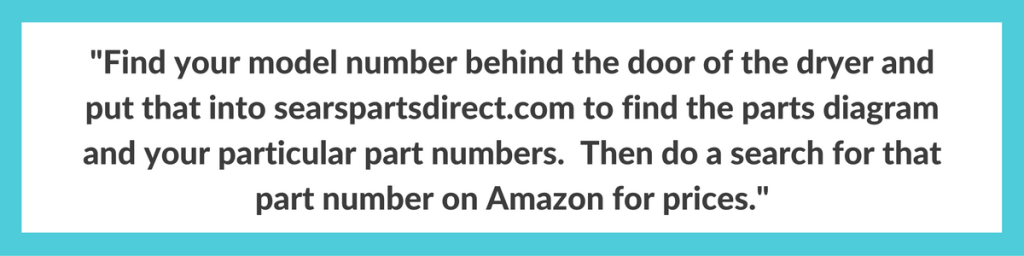 search searspartsdirect for your part number
