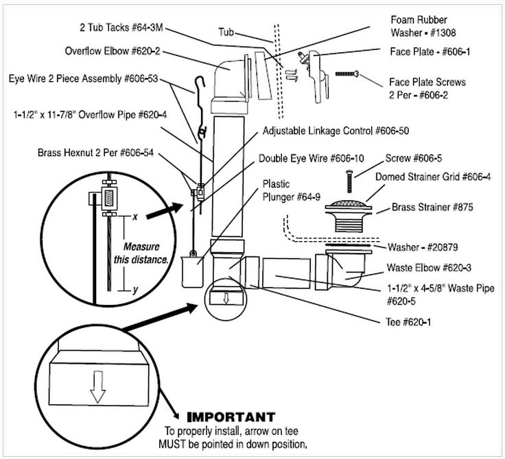 7 bathtub plumbing installation drain diagrams for How to install a bathroom sink drain pipe