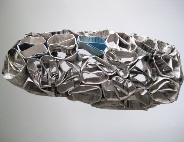 Newspaper Sculpture