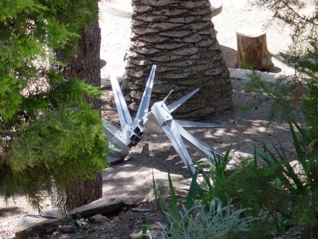 Fence posts sculpture