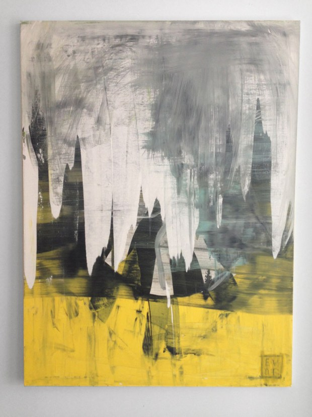 Abstract painting by Washington DC based interdisciplinary installation artist Edmond van der Bijl