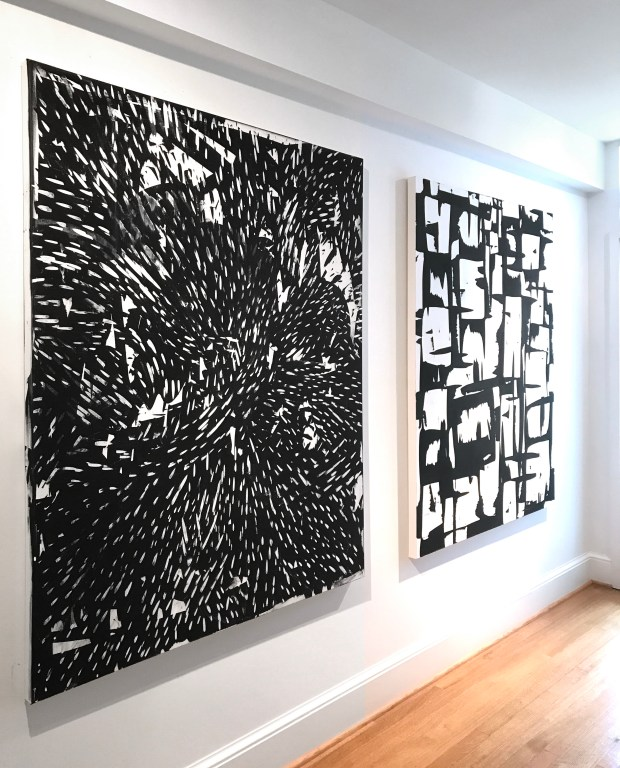 EVDBJL - Edmond Van der Bijl -Black and white - Paintings - Cropped